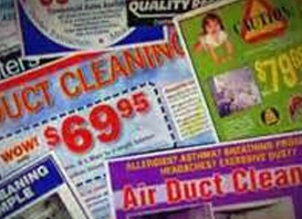 duct cleaning ads collage