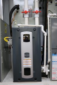 image of a furnace in the Altitude Comfort Heating and Air furnace repair training center.
