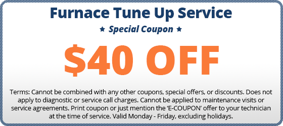$40 off furnace tune up coupon