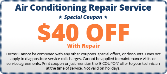 $40 off air conditioning repair coupon