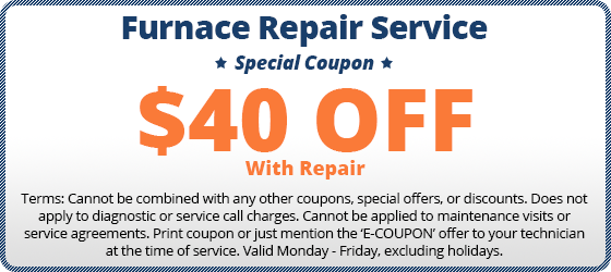 $40 off furnace repair coupon